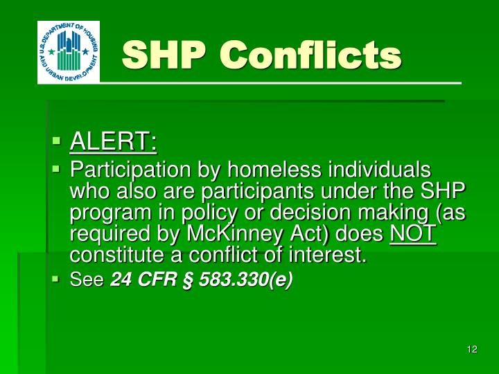 SHP Conflicts