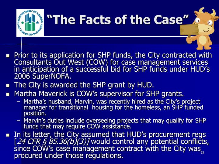 """""""The Facts of the Case"""""""