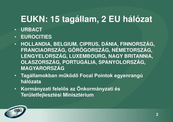 EUKN: 15 tagállam, 2 EU hálózat