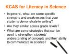 kcas for literacy in science1