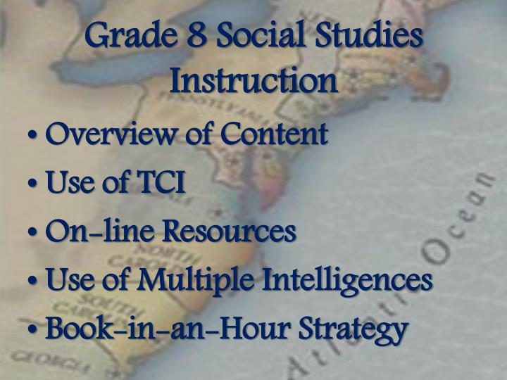 Grade 8 Social Studies Instruction