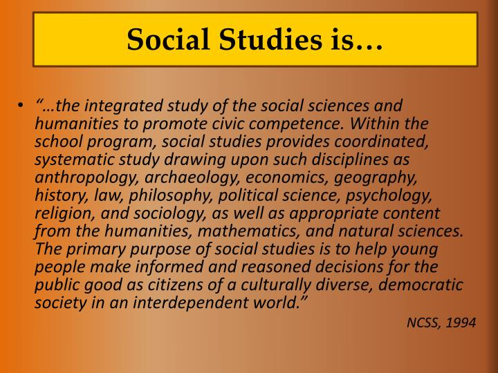 Social Studies is…