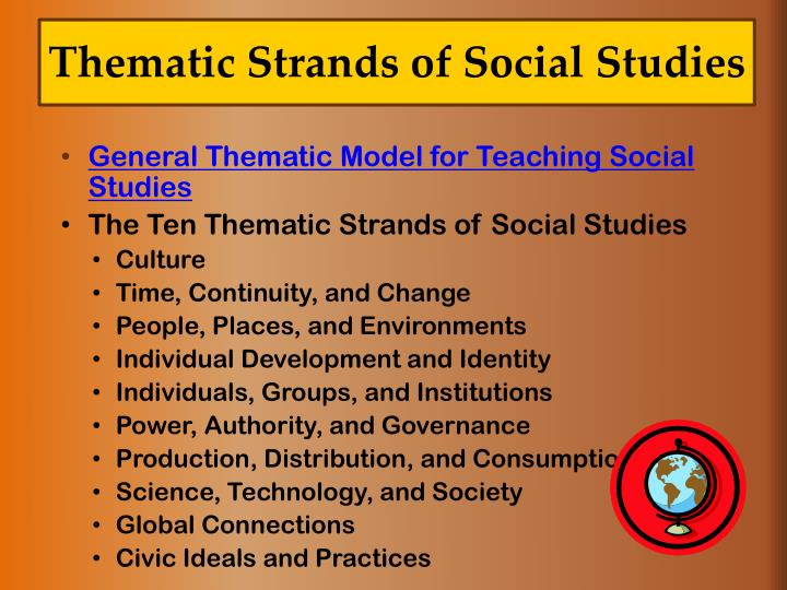 Thematic Strands of Social Studies