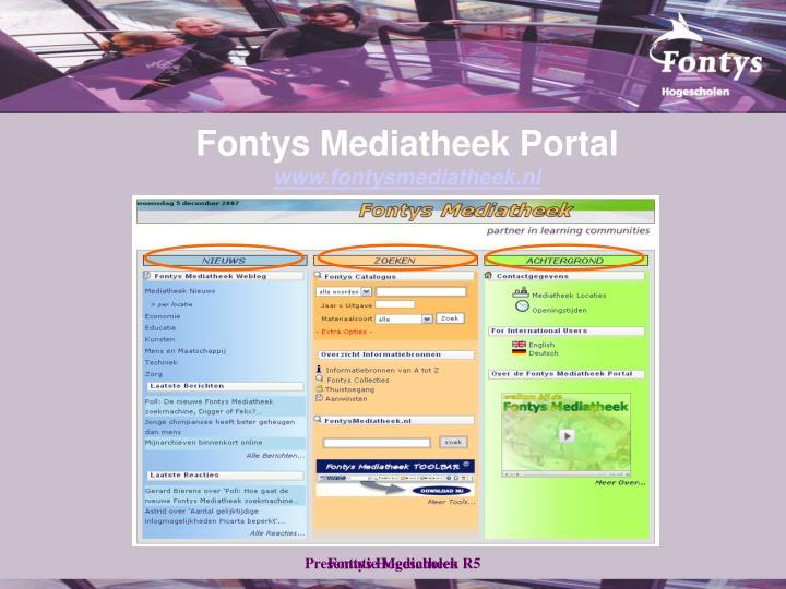 Fontys Mediatheek Portal