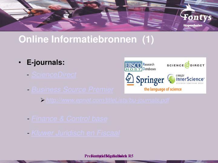 E-journals: