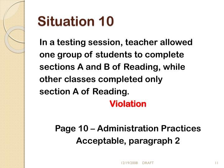 Situation 10