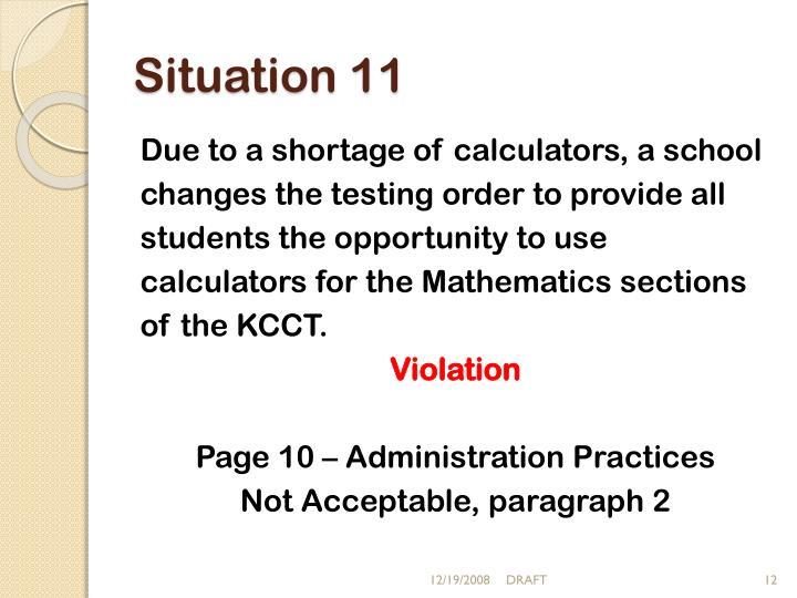 Situation 11