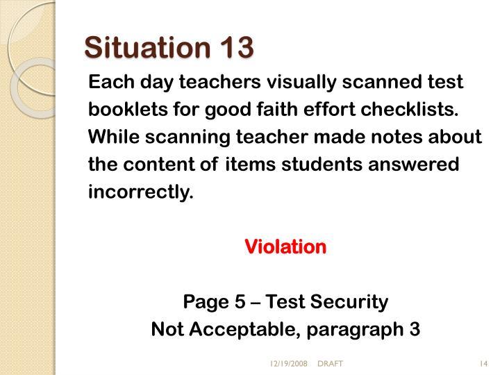 Situation 13