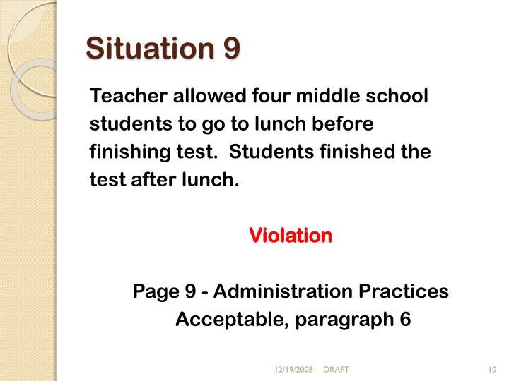 Situation 9