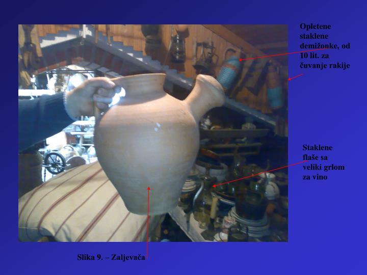 Opletene staklene demižonke, od 10 lit. za čuvanje rakije