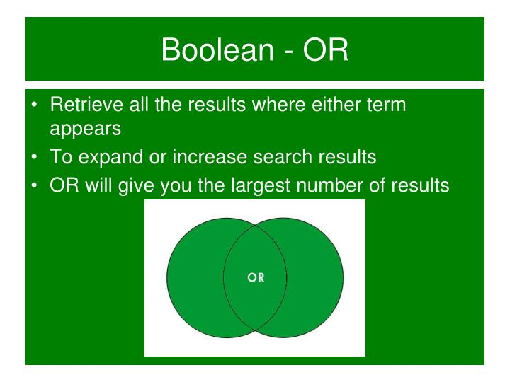 Boolean - OR