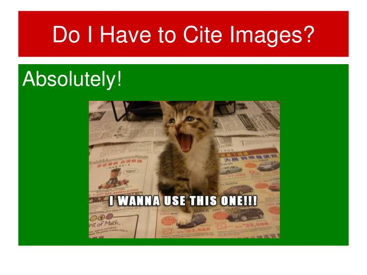 Do I Have to Cite Images?