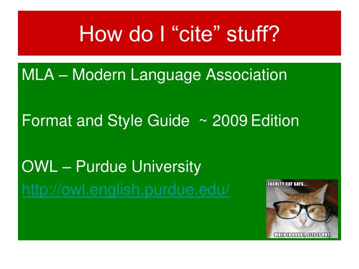 "How do I ""cite"" stuff?"