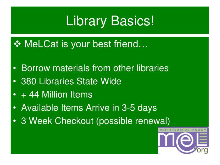 Library Basics!