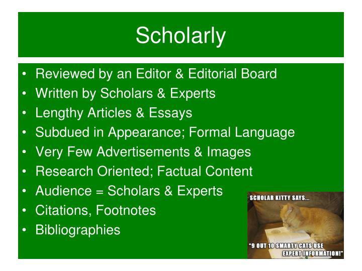 Scholarly