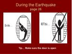 during the earthquake page 261
