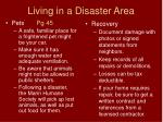 living in a disaster area