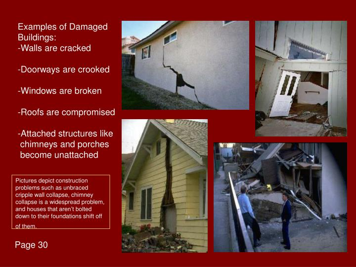 Examples of Damaged