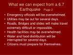 what we can expect from a 6 7 earthquake page 2