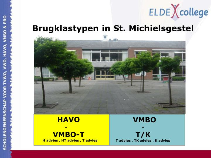 Brugklastypen in St. Michielsgestel