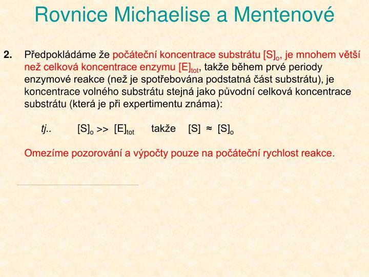 Rovnice Michaelise a Mentenové