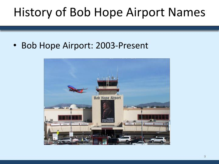 History of Bob Hope Airport Names