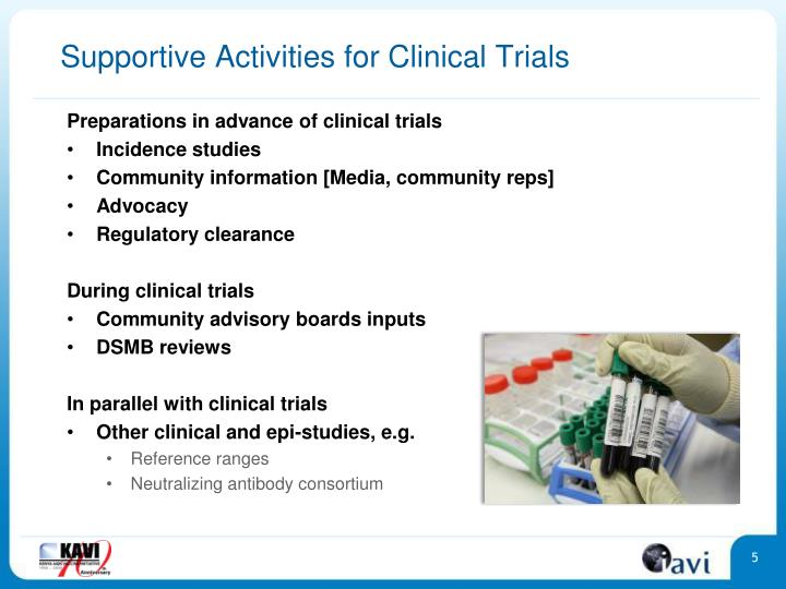 Supportive Activities for Clinical Trials