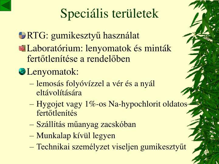 Speciális területek