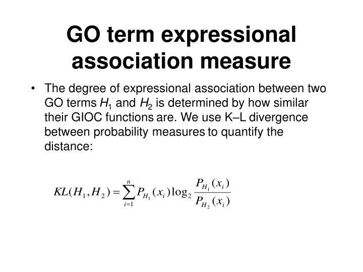 GO term expressional association measure