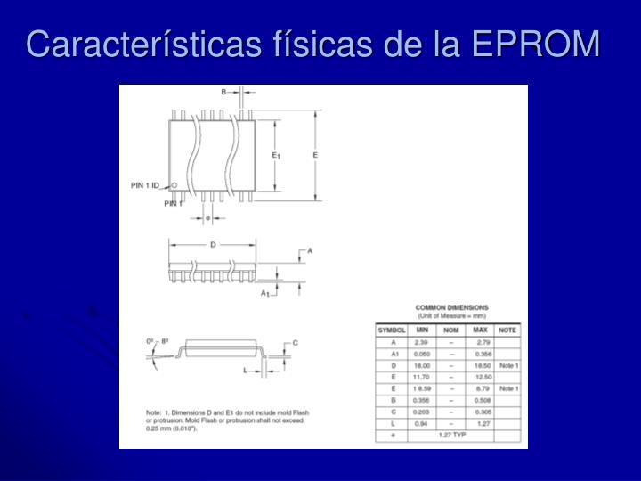 Características físicas de la EPROM