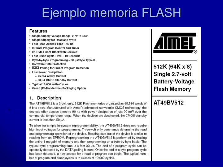 Ejemplo memoria FLASH