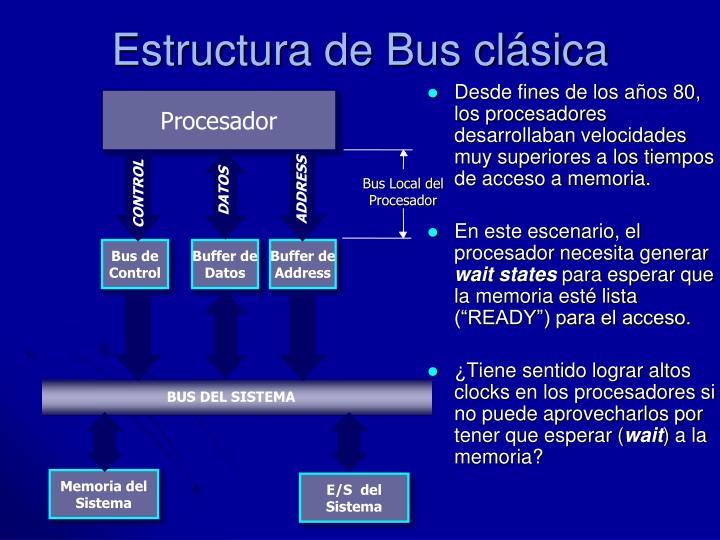 Estructura de Bus clásica