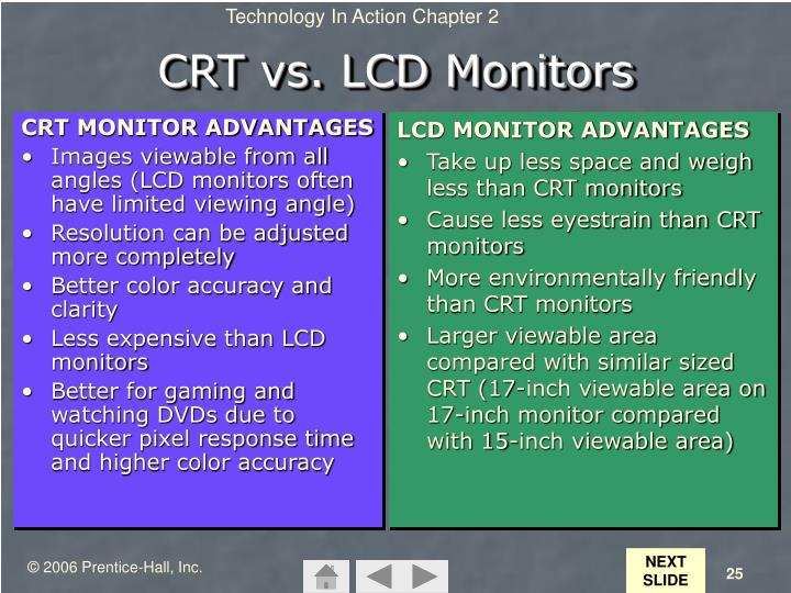 CRT MONITOR ADVANTAGES