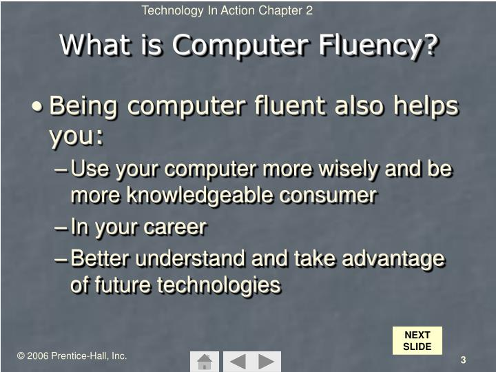 What is computer fluency1