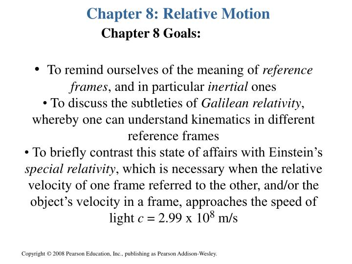 chapter 8 relative motion