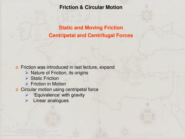 Friction & Circular Motion
