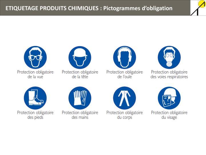 ETIQUETAGE PRODUITS CHIMIQUES : Pictogrammes d'obligation