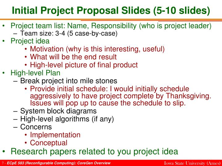 Initial Project Proposal Slides (5-10 slides)