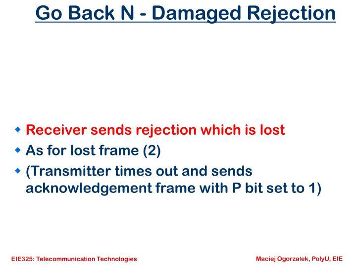 Go Back N - Damaged Rejection