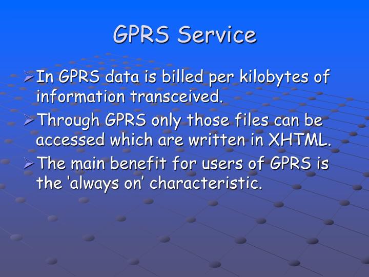 GPRS Service