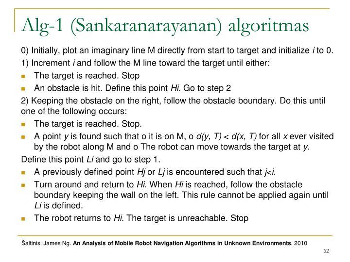 Alg-1 (Sankaranarayanan) algoritmas