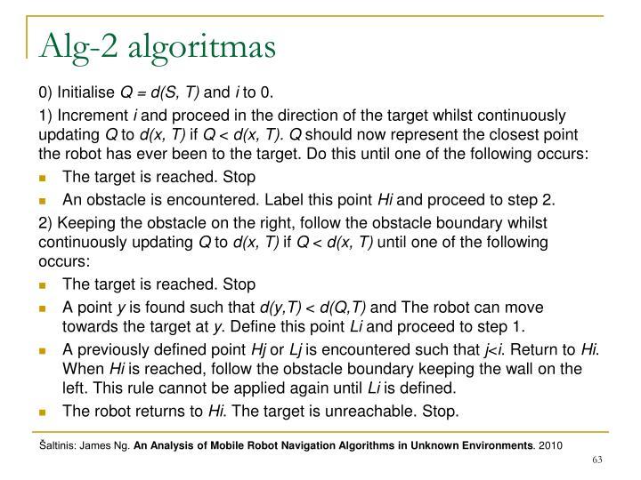 Alg-2 algoritmas