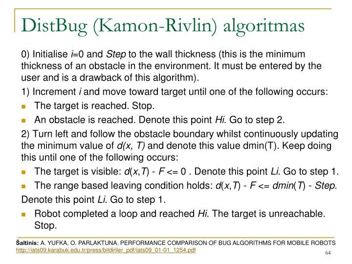 DistBug (Kamon-Rivlin) algoritmas