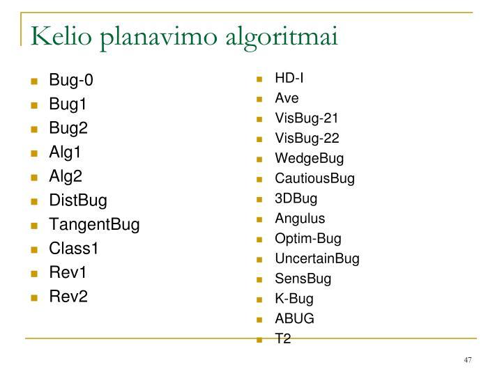Kelio planavimo algoritmai