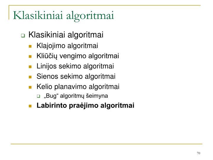 Klasikiniai algoritmai