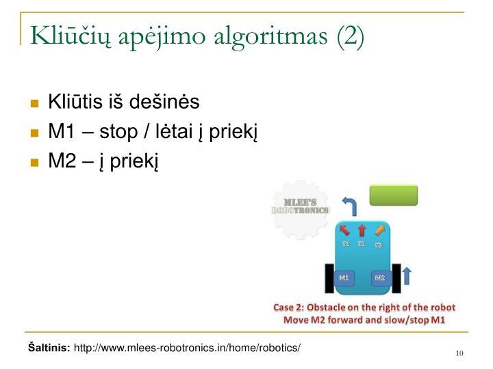 Kliūčių apėjimo algoritmas (2)