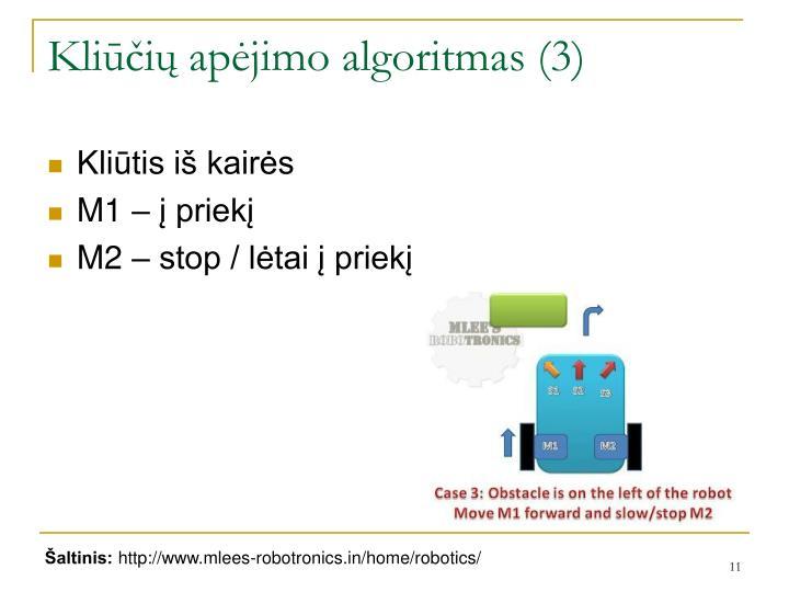 Kliūčių apėjimo algoritmas (3)