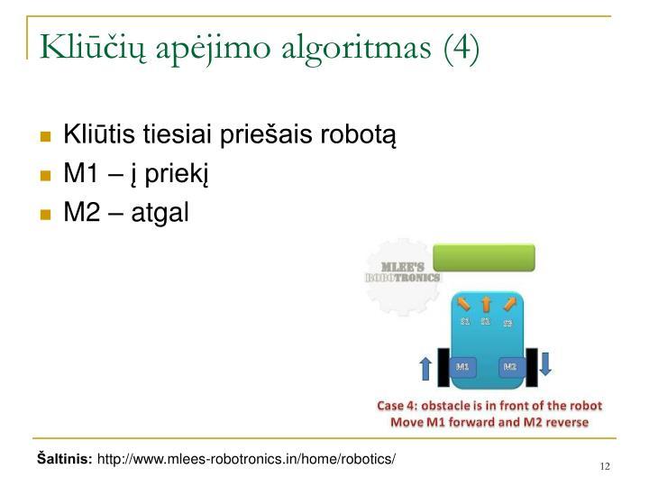 Kliūčių apėjimo algoritmas (4)