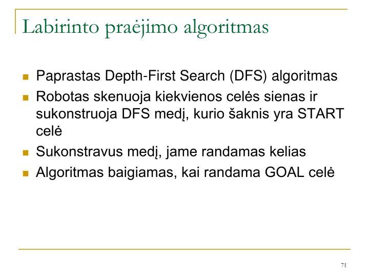 Labirinto praėjimo algoritmas