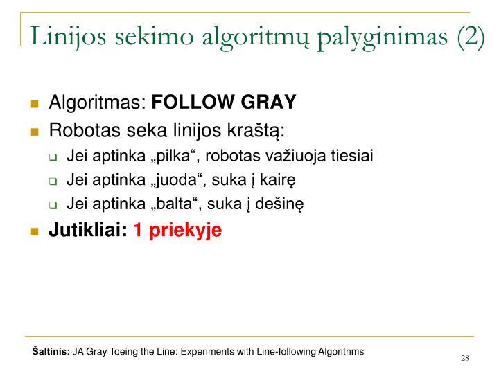 Linijos sekimo algoritmų palyginimas (2)